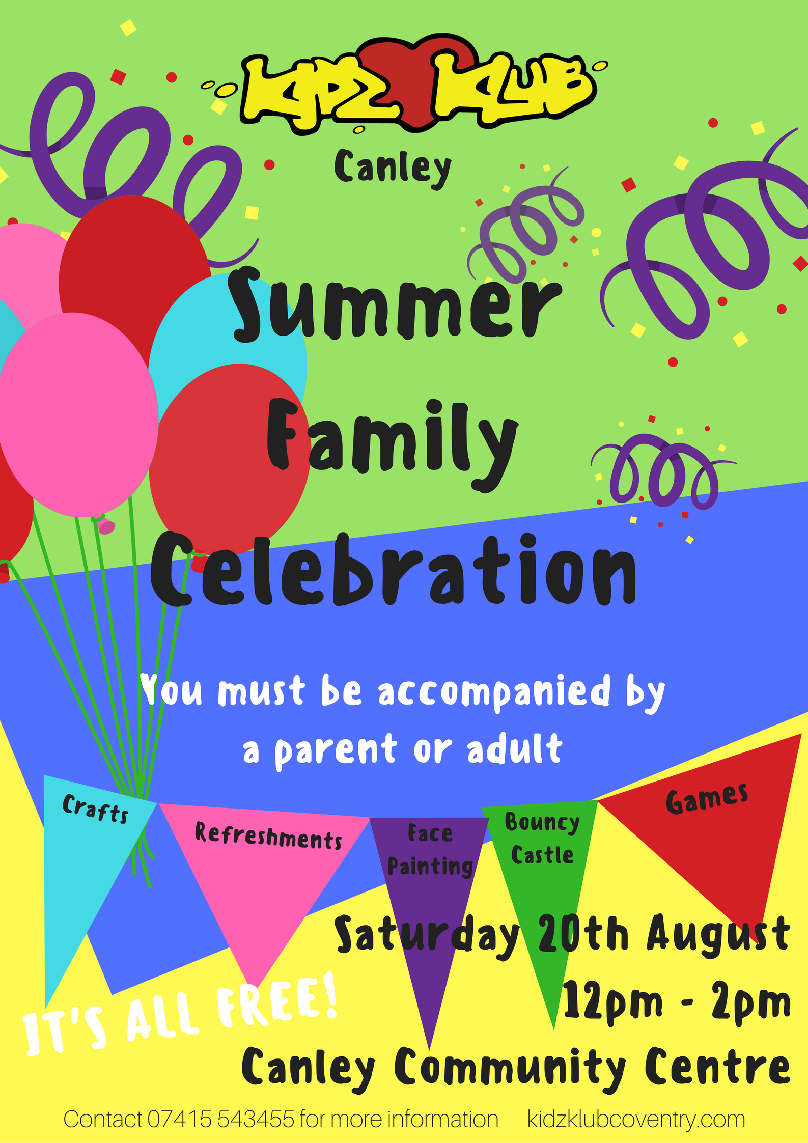 Kidz Klub Canley Summer Celebration!